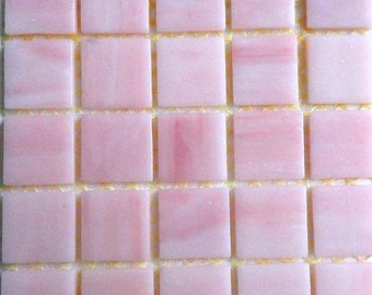 "20mm (3/4"") Cotton Candy Bubble Gum Pink Tiffany STAINED GLASS Mosaic Tiles//Mosaic Supplies//Crafts//Mosaic Pieces//Jewelry"