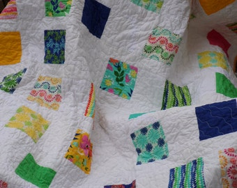 SALE - Good Vibrations Lap Quilt - patchwork