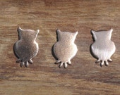 My MOST Tiny Owl Blank Cut Out for 24g Metalworking Soldering Stamping Texturing Blanks