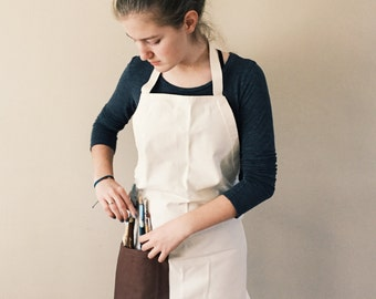 Craft Apron- Natural/brown