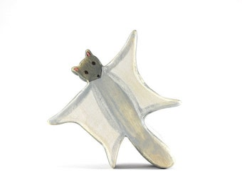 flying squirrel wooden toy, waldorf squirrel toy, flying squirrel figurine, wood toy animals