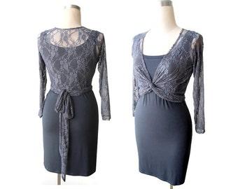 Bridesmaid bolero, Bridesmaid lace shrug, Long sleeve bridesmaid lace top, Wedding lace top, Handmade blouse, Womens clothing, Wedding