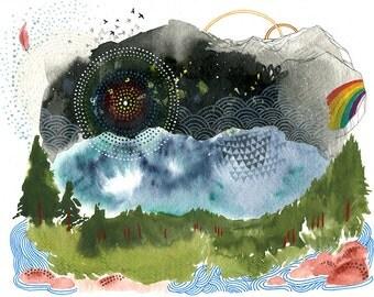 Quest // eco-friendly wall art nature print