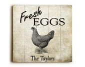 Fresh Eggs Wood Sign, Country Kitchen Sign, Farmhouse Eggs Sign, Rustic Home Decor, Personalized Wood Plank Sign, Country Eggs Wooden Sign