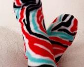 Fleece Socks, Bright Colorful Warm Socks, Ladies/Women's Bed Socks, Rain-Boot Socks, Gift under 10 Dollars, Gifts for Her, Warm Winter Socks