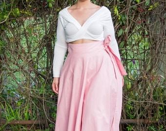 Plus Size Maxi Skirt / Women plus size High Waist / plus size