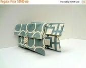 ON SALE Set of 2 Blue Gray Makeup Bags
