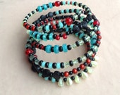 Spicy Multicolored memory wire bracelet