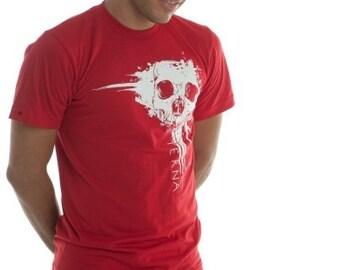 CLEARANCE Unisex Eterna Red and White Splatter Skull - Small