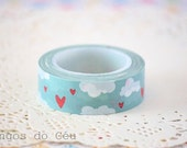 Super Cute Cloud Washi Tape - Scrapbooking - Gift Wrapping - 1 Roll - 10 mt - Ready to Ship