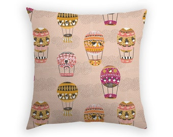 Throw Pillow Accent Decorative Pillow Cover Cushion Designer Home Decor Flying Machines Hot Air Balloon Home Decor Girls Room Australia