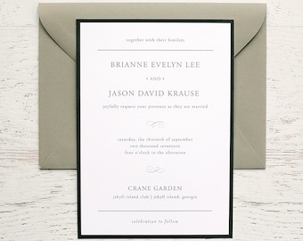 Brianne Custom Wedding Invitation