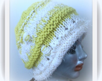 HAT WOMEN KNITTED  Ready For Spring  Wool Cloche  Gift Sis Mom Friends Warm Stylish Retro Flapper