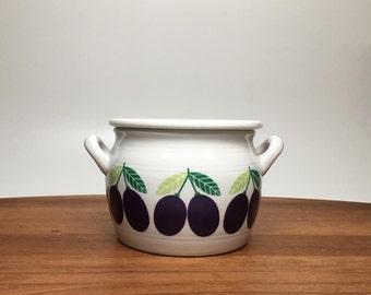 Arabia 'Pomona' Plum Jam Pot with Handles