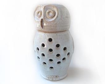 Large Owl Garlic Jar