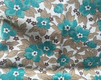 Vintage Floral Feedsack Cotton Fabric