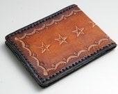 The Space Cowboy, Leather Wallet,  - Mens Wallet, Mens Leather Wallet, Handmade, Brown Leather,Slim Profile, Bi Fold
