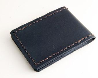 Mini-Bifold The Classic (black), minimal wallet, black wallet, leather wallet black, mens wallets, wallets for men, black leather