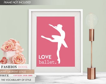 LOVE BALLET - Art Print (Featured in Raspberry Kiss) Love Dance Art Print and Poster Collection
