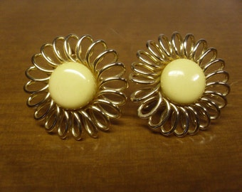 Vintage 1960's  Clip-On Earrings