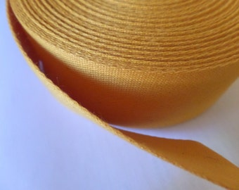 Webbing Cotton/Polyester 2 in x 1 yard Orange Goldenrod