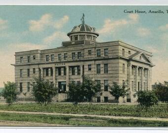 Court House Amarillo Texas 1910s postcard