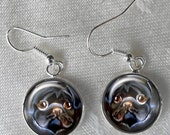 Black Pug Drop Earrings ~ Office Gifts ~ Pug Lover ~ Girlfriend Gift ~ February Finds ~ Pet Keepsake