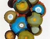 Modern Contemporary Art, Geometrical Art, Contemporary Circles Art, Dye Infused Metal Art