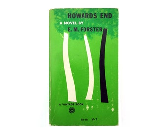 "E. McKnight Kauffer book cover design, 1954. ""Howards End"" by E.M. Forster."