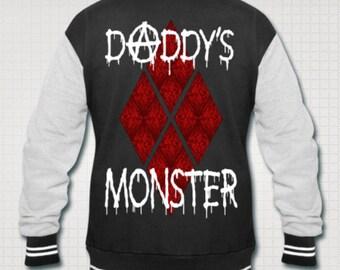 Daddy's Monster Harley Quinn Varsity jacket