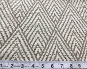 CLEARANCE SALE natural brown pyramid geometric home deco fabric 1 yard