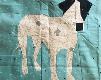 Harley Dog Pointer Staffordshire Mix Silhouette Paper Piecing Pattern