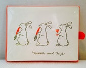 Vintage Sealed Gibson Easter Bunny Dinner Invitations, Nibble and Nip,  8 Cards Cards and Envelopes, Adorable