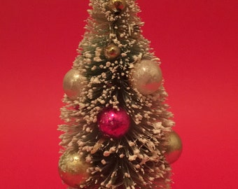 Vintage Christmas Bottle Brush Tree
