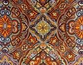 "Vintage 70s Mod Velvet Fabric - 2 Yards Printed Cotton Velvet - Crompton New World Fabrics ""Taj Mahal"" Psychedelic - Pillow Dress Skirt"