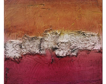 Abstract landscape, red painting, Original Abstract Painting, Original Minimalist Painting, orange Art, red landscape, textural art
