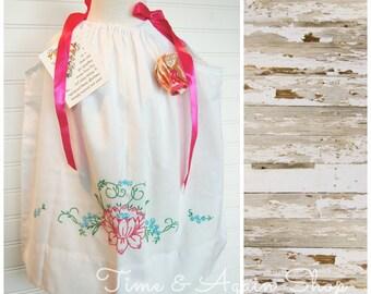 Pillow Case Pillowcase Dress from Genuine Pillowcase - Floral Dress - Size 2T dress (ANT418) - Pillowcase Dress - Beach Dress FREE Clip