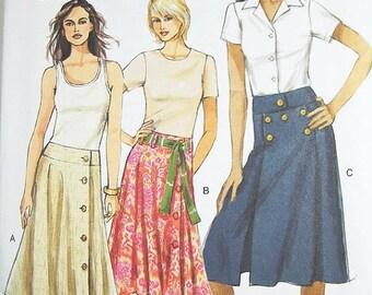 ON SALE Vogue Skirt Pattern V8198 - Misses' Skirt in 3 Variations - Sz 18/20/22