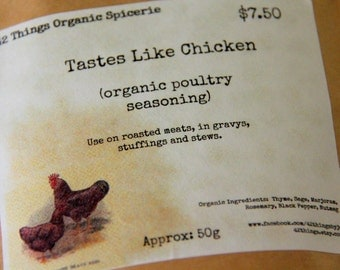 Organic Poultry Seasoning - Watkins like - No MSG Fillers Preservatives or Salt