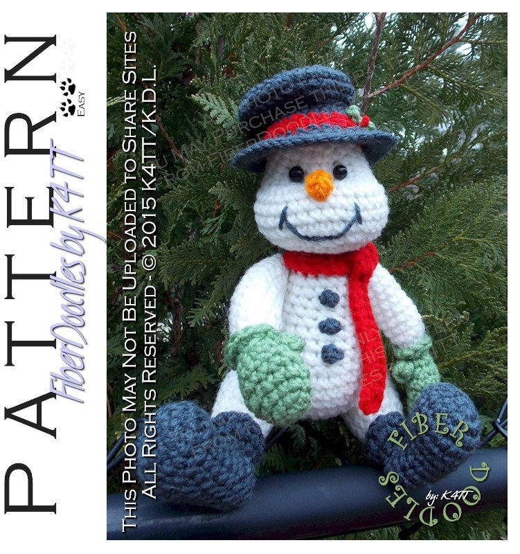 Knitting Pattern For Christmas Pudding To Cover Chocolate Orange : INSTANT DOWNLOAD : Handful of Snowman Crochet Pattern