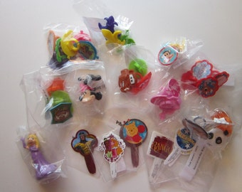 cake decorating supplies - cupcake topper picks and rings - kids assortment
