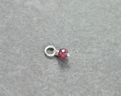 Pink Tourmaline Pendant, Sterling Silver Wire Wrapped October Birthstone Charm - Add a Dangle