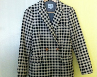 Annette Double Breasted Checkered Jacket Coat Blazer XS S 2 by Steven Alan