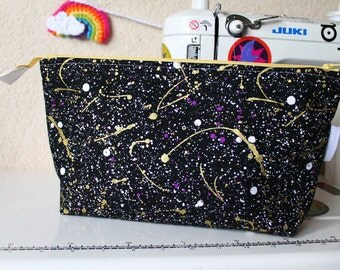 True Love Open Wide Zipper Pouch | Makeup Bag | Project Bag | Toiletry Bag