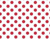 Red Medium Dot Fabric by Riley Blake