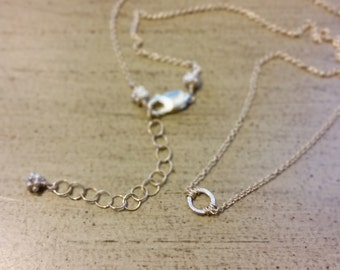 Minimalist Silver & Gold Necklace / Petite Necklace / Gift for Her