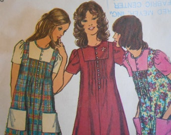 Simplicity 5063 sewing pattern Misses Mini Smock Dress size 14