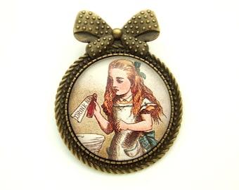 Alice in Wonderland Brooch Alice Brooch Literary Gift Book Lover Gift Reader Gift Wonderland Jewellery Gift for Her Made in the UK