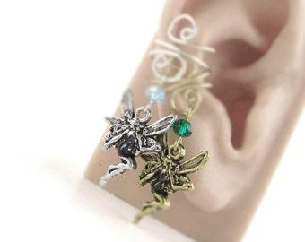 Fairy Ear Cuff - Elf Ear Cuff - Winter Fairy Earrings - Teen Earrings - Fantasy Earrings - Silver Gold Fairy Earcuff Gift For Teenager Gift