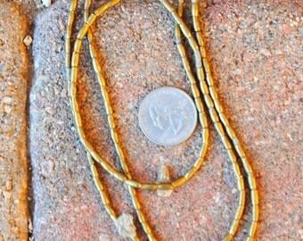 African Brass Beads: 2.5x6mm